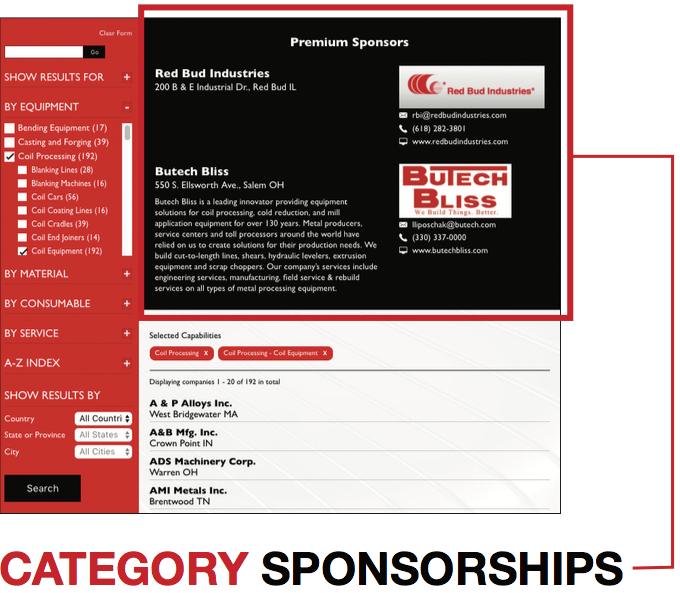 Category Sponsorships