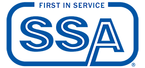Ssa logo in blue