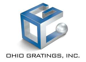 Ohio gratings logo 3d stacked blk text